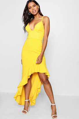 boohoo Boutique Strappy Frill Detail Maxi Dress