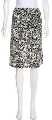OMO Norma Kamali Patterned Knee-Length Skirt