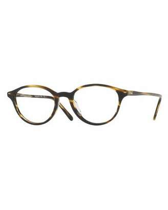 Oliver Peoples Mareen Round Optical Frames, Light Brown $330 thestylecure.com
