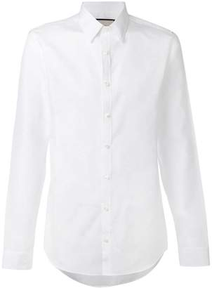 Gucci star and bee embroidered shirt