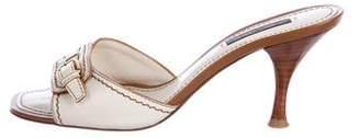 Louis Vuitton Leather Mid-Heel Sandals