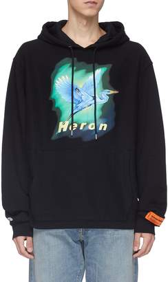 Heron Preston 'Heron Birds' graphic print logo embroidered hoodie