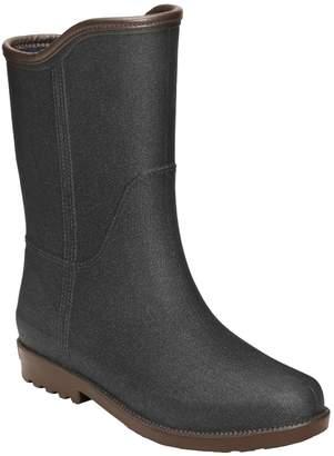 Aerosoles Martha Stewart Textured Calf High Rain Boots -Weston