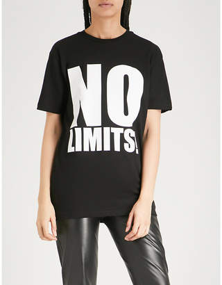 Gareth Pugh No Limits print cotton-jersey T-shirt