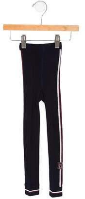 Fendi Girls' Logo Knit Leggings