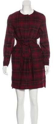 Burberry Wool Plaid Dress