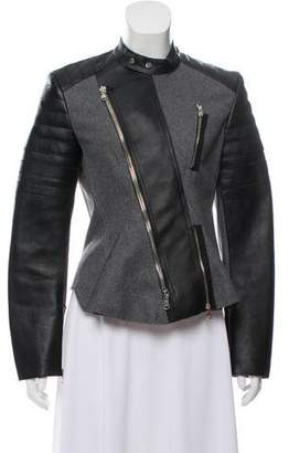 3.1 Phillip Lim Leather-Trimmed Zip-Up Jacket