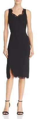 Nanette Lepore nanette Sleeveless Lace Trim Sheath Dress