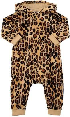 Mini Rodini Leopard Print Chenille Romper