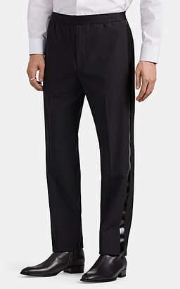 Helmut Lang Men's Striped Wool Trousers - Black