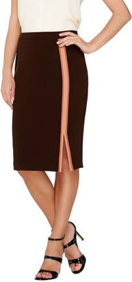 G.I.L.I. Got It Love It G.I.L.I. Double Face Color-Block Vertical Stripe Pencil Skirt