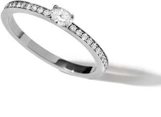Repossi Harvest One-Row Oval-Cut Diamond Ring in 18K Gold