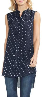 Vince Camuto Romantic Dots High/Low Tunic Top