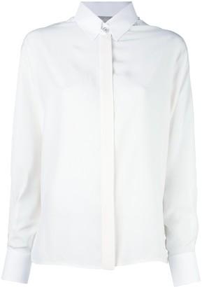 Lanvin embellished collar fastening shirt