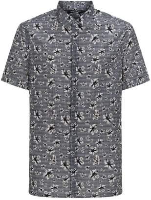 Neil Barrett Check Floral Short Sleeve Shirt