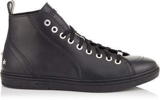 Jimmy Choo COLT Black Smooth Calf Leather High Top Trainers
