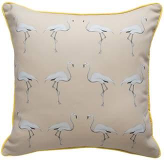 Dwelling Bird - Flamingo Cushion Dusted Stone