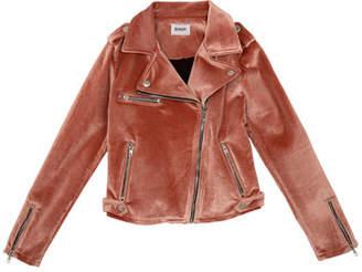 Hudson Nadia Velvet Moto Jacket, Size S-XL
