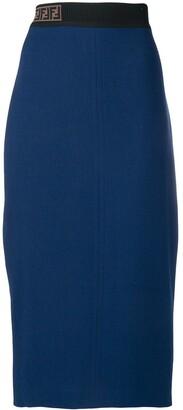 Fendi high waisted fitted skirt