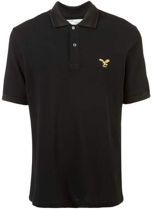 Off-White eagle embroidered polo shirt