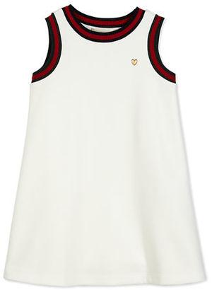 Gucci Sleeveless Web-Trim Jersey Shift Dress, Size 4-12 $190 thestylecure.com