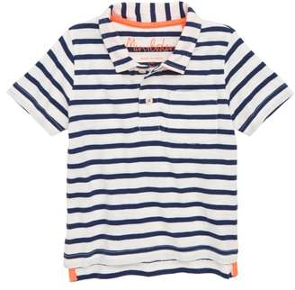 Boden Mini Jersey Stripe Polo