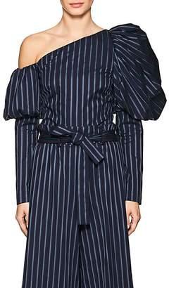Osman Women's Orla Striped Cotton Asymmetric Top