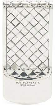 Bottega Veneta Intrecciato Engraved Sterling Silver Money Clip - Mens - Silver