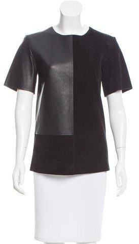 CelineCéline Suede & Leather Top