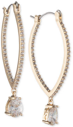 Jenny Packham Crystal Elongated Hoop Earrings