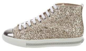 Miu Miu Cap-Toe High-Top Sneakers w/ Tags