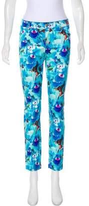 Just Cavalli Glitter-Embellished Mid-Rise Pants