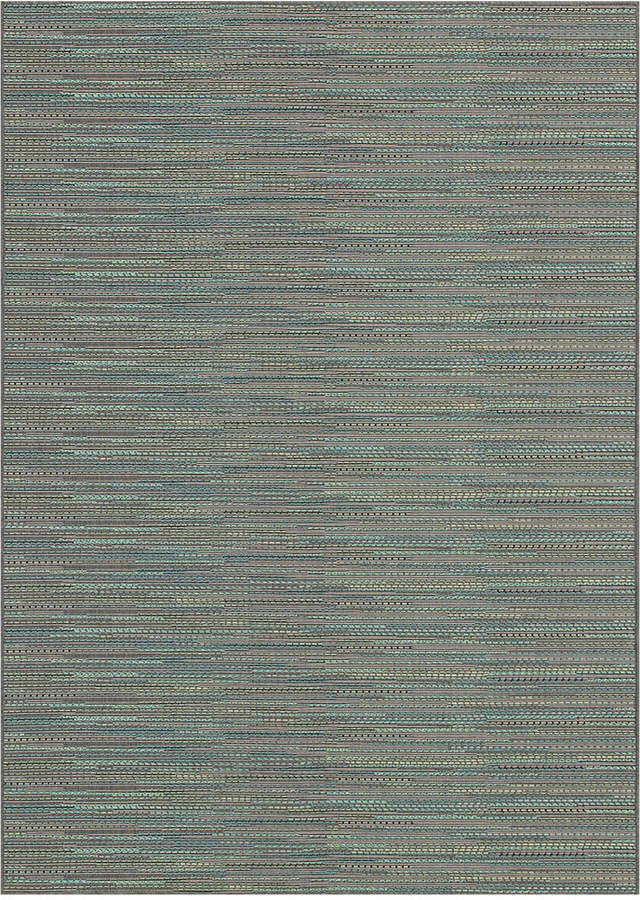 "Couristan Couristan Monaco Indoor/Outdoor Larvotto Blue-Multi 2'3"" x 7'10"" Runner Area Rug"