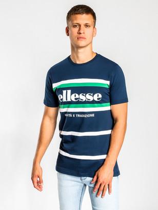 Ellesse Brito Short Sleeve T-Shirt in Navy Green