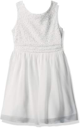 Speechless Big Girls' Glitter Dot Comber Chiffon Dress