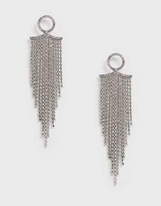 Vero Moda long diamante drop earrings