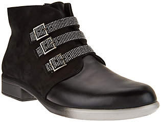 Naot Footwear Leather Ankle Boots with Buckle Detail -Vardar