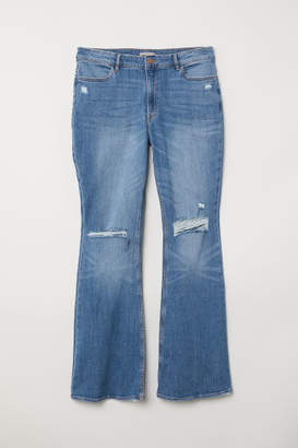 H&M H&M+ Flare High Jeans - Blue