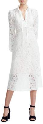 Maje Wave 1 Rilie Lace Midi Dress