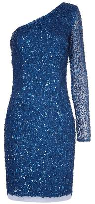 Adrianna Papell One Shoulder Sequin Dress