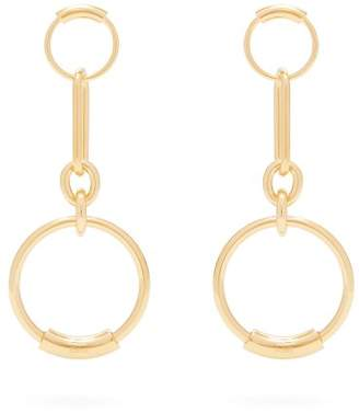 Chloé Drop Hoop Earrings - Womens - Gold