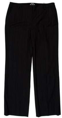 Dolce & Gabbana Pinstriped Flat-Front Pants w/ Tags
