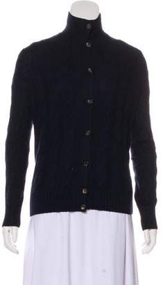 Loro Piana Baby Cashmere Cable Knit Cardigan