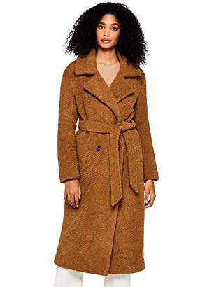 find. Longline Teddy Coat Jacket, Brown, 8 (Size: X-Small)