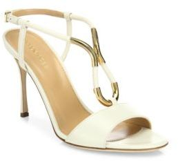 Sergio Rossi Twist Leather Sandals