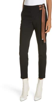 Tibi Anson Stretch Side Buckle Skinny Pants