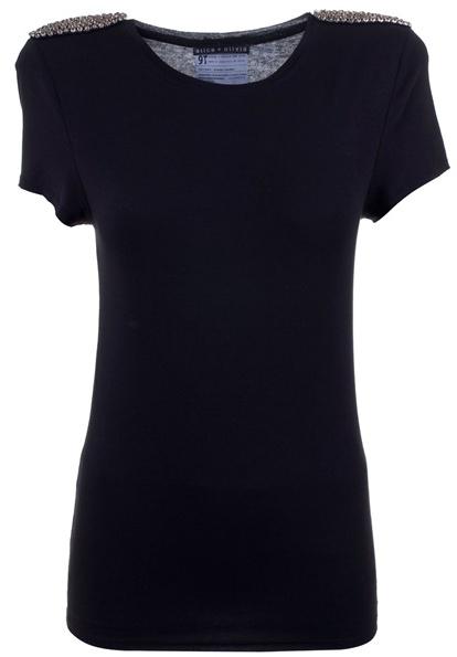 ALICE+OLIVIA - Crystal shoulder T-shirt