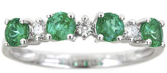 FINE JEWELRY LIMITED QUANTITIES Genuine Emerald and 1/8 CT. T.W. Diamond Band