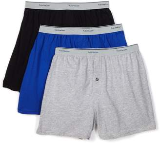 Fruit of the Loom Men's Knit Boxer with Exposed Waistband - Colors May Vary