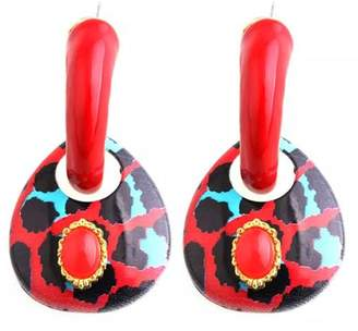 Madison Avenue Accessories Red Afrik Earring